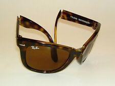 New RAY BAN  Sunglasses FOLDING WAYFARER Tortoise RB 4105 710  Brown Lenses 54mm