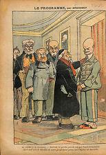 Caricature Anti Maçonnique Emile Combes Joseph Caillaux Paris 1913 ILLUSTRATION