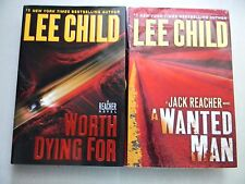 Jack Reacher Series: A Wanted Man & Worth Dying For by Lee Child, Lot of 2 Books