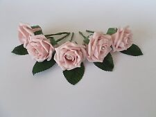 1 Rose Wedding Buttonholes with diamante - 44 colours - Groom, Guest, Best man