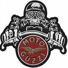 Patches écusson thermocollant aufnäher toppa embroiderer BOMBER MOTO GUZZI 21x21