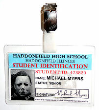 Halloween Michael Myers Studente ID Badge Horror Cosplay Costume Accessorio