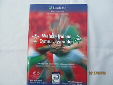 Wales v Ireland. Rugby Union. 6 Nations. October 2001.