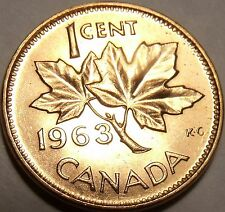 Canada 1963 Gem Uncirculated Cent~Queen Elizabeth The II~Free Shipping
