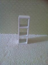 Dolls House 1:12th Scale Modern Display Shelving Unit In White