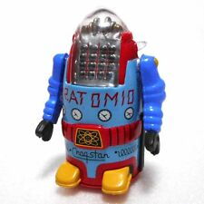 Mr. ATOMIC (BLUE) Kitahara Collection Mini Figure SF Tin Toy Robot Bandai Used
