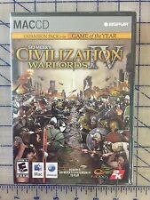 CIVILIZATION IV WARLORDS EXPANSION MAC * ORIGINAL MANUFACTURED SEALED *