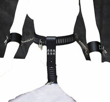 Black Lockdown Women Chastity Device Belt & Wristcuff, Fetish Restraint Knickers