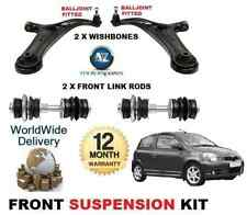 Toyota Yaris 99-06 Frontal 2x Wishbone armas 4x Estabilizador De Enlace bares Kit de Suspensión