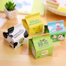 1Pc Milk Box Small Memo Pad Paper Sticky Note Office Supplies Random Pattern