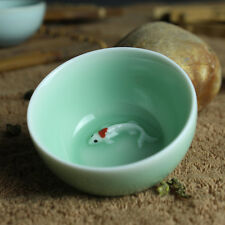 2pcs/lot Chinese celadon ceramic tea set teacup 50ml pottery cup fine china gift