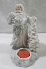 HAND-SCULPTED PORCELAIN SANTA TEALIGHT HOLDER PARTYLITE CHRISTMAS NEW IN BOX