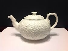 Coalport Teapot Country Ware All White With Embossed Leaves Excellent Condition