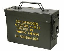Olive Drab Military Surplus Steel .30 Cal Ammunition Can OD Green Ammo Can Case