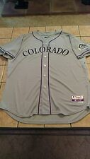 Nwt Men's Majestic Coolbase Colorado Rockies Authentic Blank Gray Jersey sz 52