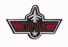 TOP GUN IRON ON / SEW ON PATCH Embroidered Badge Motif MOVIE CRUISE ACTION PT170