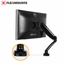 """Monitor LCD Arm Stand Desk Mount Holder 19 20 21 22 23 24 26 27"""" W/ 2 USB Ports"""