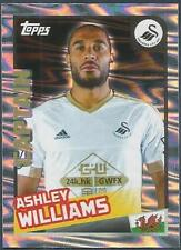 TOPPS 2016 PREMIER LEAGUE #397-SWANSEA CITY-CAPTAIN-ASHLEY WILLIAMS-SILVER FOIL