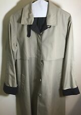 London Fog Trench Coat Size 18 All Weather Coat With Lining& Belt