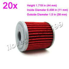 20x Oil Filter For KAWASAKI KX250 2006 2007 2008, KX250F 2004-2015 , KX450F 2016