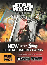 Star Wars the Force Awakens Series 2 Digital Trading Card Pack Redemption Card