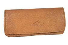 MESTANGO GOATSKIN LEATHER TOBACCO COMBO POUCH PIPE CASE NATURAL MAGNETIC ** NEW