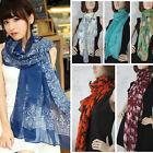 Best-Selling Fashion Scarf Women's Long Chiffon Wraps Shawl Stole Soft Scarves