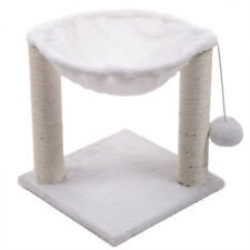 Cat Tree Hammock Scratch Post House Net Bed Furniture for Play with Toy White