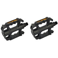 """1 x Pair 9/16"""" Bicycle BMX MTB Adult Mountain Cycle Bike Black Reflector Pedals"""