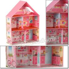 Kids Home Barbie Dream Girls Play Room Doll House Miniature Furniture Toys Fold