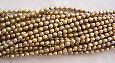 "16"" Strand Golden Mustard Light Brown Freshwater Pearl Rice Beads 6mm-7mm"