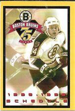 1998-99 NHL HOCKEY SCHEDULE - BOSTON BRUINS #14 SERGEI SAMSONOV