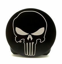 "PUNISHER SKULL, Billet Aluminum Trailer Hitch plug Cover, 4"" Rd."