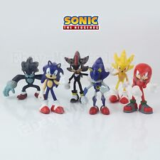 6pcs Sonic the Hedgehog Super Metal Sonic Shadow Knuckles Werehog PVC Figure NB