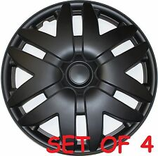"4 PIECES BLACK 16"" WHEEL COVER TOYOTA SIENNA 2004 2005 2006 2007 HUBCAP HUB CAP"