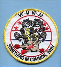 VF-32 SWORDSMEN VF-41 BLACK ACES F-14 TOMCAT LIBYAN MIGS US Navy Squadron Patch