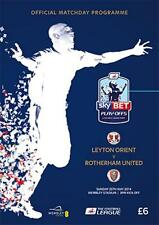 * LEYTON ORIENT v ROTHERHAM  2014 LEAGUE ONE PLAY-OFF FINAL OFFICIAL PROGRAMME *
