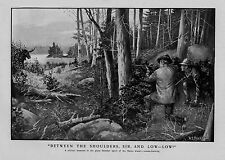MOOSE HUNTING IN THE WOODS OF MAINE GREAT OCTOBER SPORT CRITICAL MOMENT MOOSE