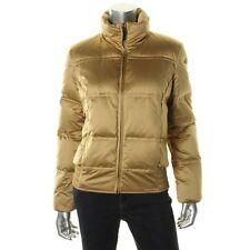Lauren Ralph Lauren Womens Orient Gold Down Filled Puffer Jacket Coat XL