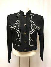womens black PANHANDLE SLIM western jacket embroidered cotton cropped MEDIUM