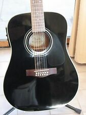 FENDER DG-16E-12 String Acoustic/Electric Guitar, Immaculate, w/chipboard case