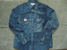 DENIM & SUPPLY RALPH LAUREN Men's Printed Patchwork Denim Shirt Slim S
