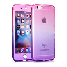 360° Front And Back TPU Soft Clear Gel Case Cover for iPhone 6 6s 7 7 Plus