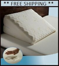 NEW! Memory Foam Wedge Bed Pillow Sleeping Aid Back / Neck Support Acid Reflux