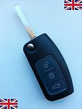 NEW 3 BUTTONS REMOTE FLIP KEY FOB CASE & BLADE For FORD MONDEO FOCUS CMAX w/LOGO