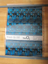 MICHAEL JACKSON This is it O2 2009 plastic poster printers proof Blue