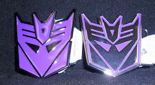 LOT OF 2 pc NEW MENS TRANSFORMERS DECEPTICON PURPLE METAL BELT BUCKLE