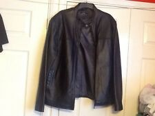 BHS MENS LUXURY LEATHER COLLECTION ZIPED JACKET BLACK SIZE EX-LARGE