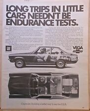 1972 magazine ad for Chevrolet - Vega photos, little car with comfort