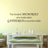 Motivation Wall Decal Family The Fondest Memories Lettering Vinyl Art Decor Idea
